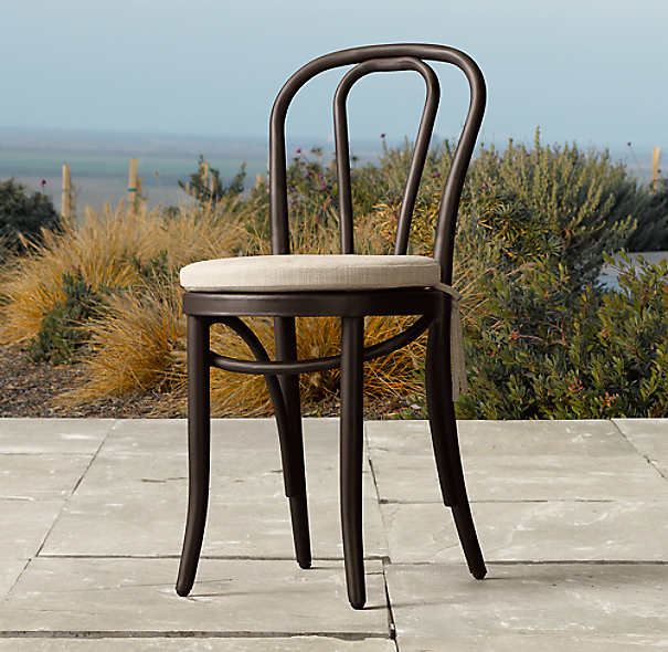 French Caf Metal Side Chair