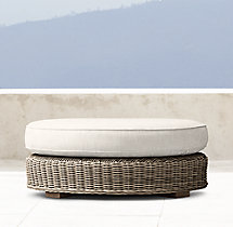 Provence Luxe Round Ottoman Cushion