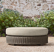 Provence Luxe Round Ottoman Cushions