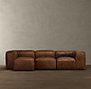 Fulham Leather Left Arm Sofa Chaise Sectional