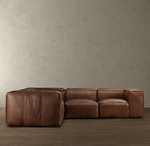 Fulham Leather Corner Sectional