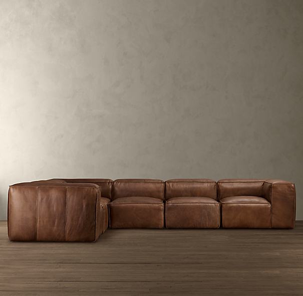 Fulham Leather L-Sectional