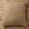 Hand-Knit Jute Pillow Cover