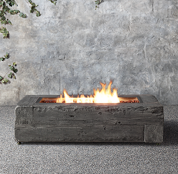 Woodgrain Propane Fire Table
