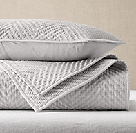 Washed Herringbone Sateen Coverlet