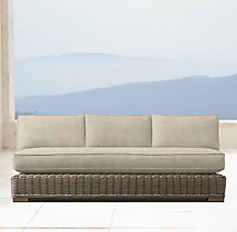 "66"" Provence Classic Three-Seat Armless Sofa Cushion"