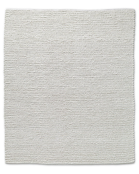 Chunky Textured Rug White