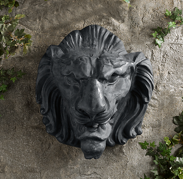 1890s Metal Lion Head