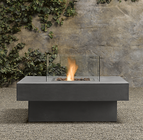 Laguna Concrete Ventless Fire Table - Square