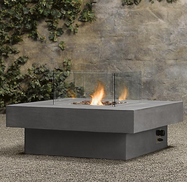 Laguna Concrete Propane Fire Table Square