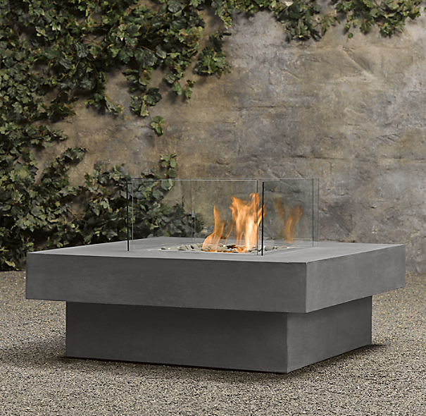 Laguna Concrete Natural Gas FireTable™ - Square