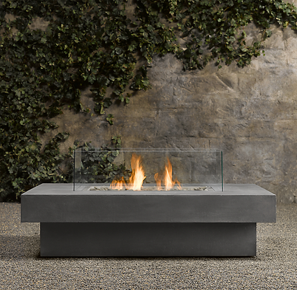 Laguna Concrete Natural Gas FireTable™ - Rectangle