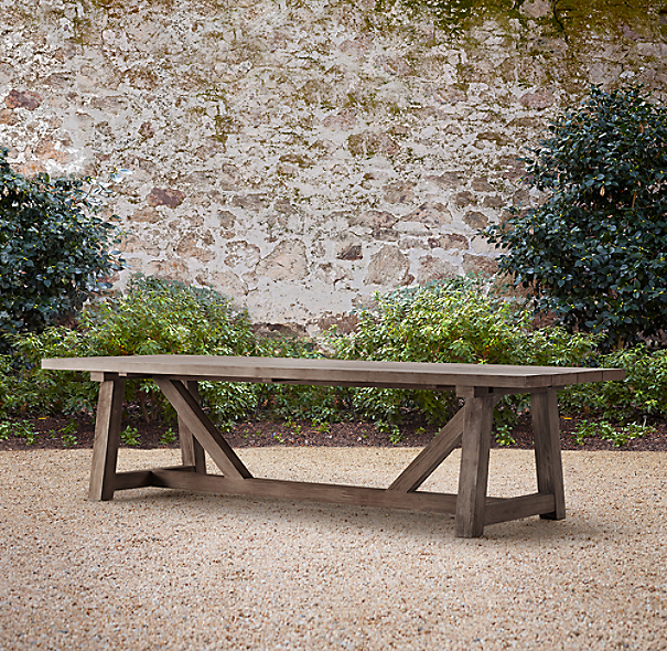 "120"" Provence Beam Rectangular Extension Dining Table"