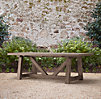 French Beam Weathered Teak Rectangular Dining Table