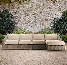 Outdoor replacement cushions patio furniture cushions for Restoration hardware outdoor umbrellas