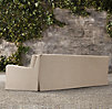"108"" Belgian Slope Arm Outdoor Sofa"