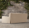 "84"" Belgian Slope Arm Outdoor Sofa"