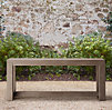 French Beam Weathered Teak Console Table