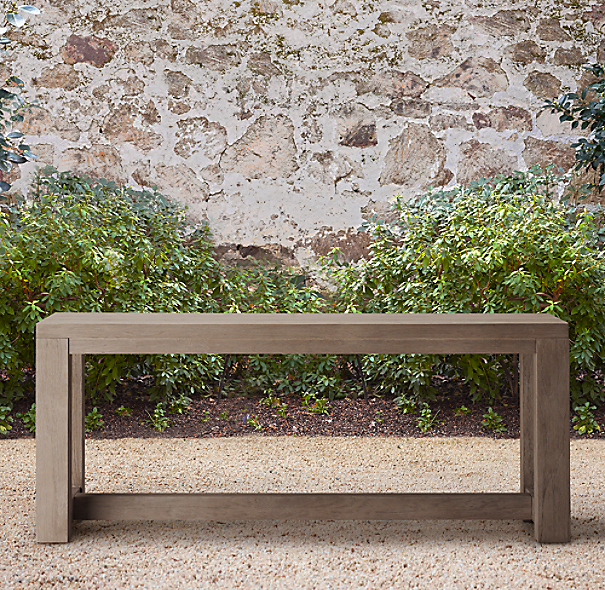 Rh French Beam Coffee Table: French Beam Weathered Teak Console Table