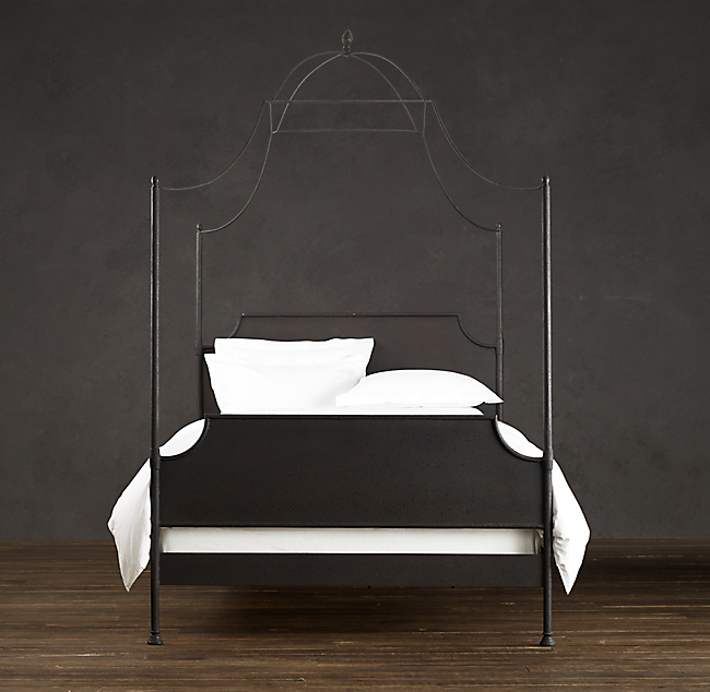 Original Claudio Rayes designed Wrought Iron Beds : Antique Beds