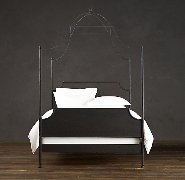 19th. C. Campaign Iron Canopy Bed
