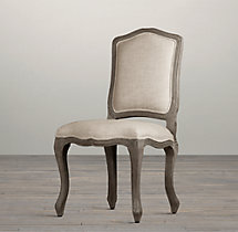 Vintage French Camelback Upholstered Side Chair