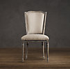 Vintage French Nailhead Upholstered Side Chair
