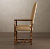 1890 English Baroque Armchair Burlap