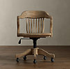 1940s Banker's Chair Weathered Oak Drifted