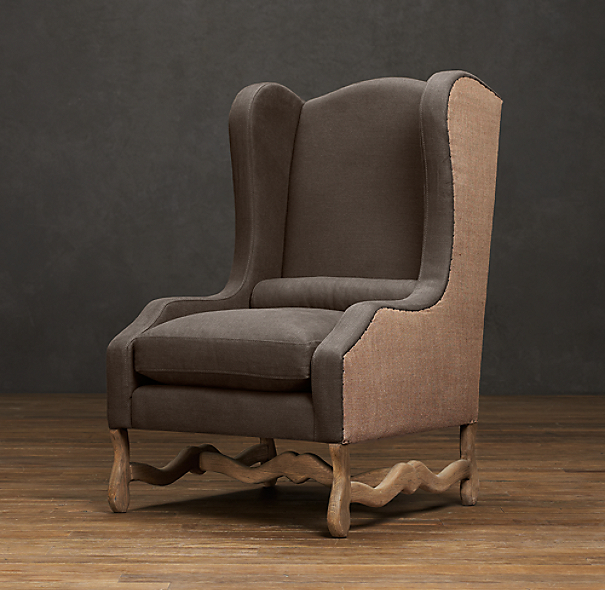 Os De Mouton Wing Chair