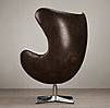 1950s Copenhagen Chair Hair-on-Hide Front