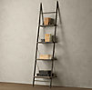 Reclaimed Elm & Iron Leaner Shelving Narrow