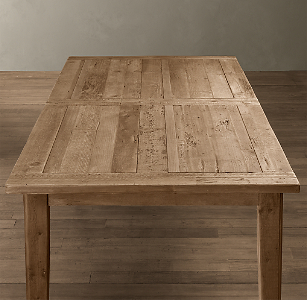 1900s Boulangerie Rectangular Extension Dining Table From Restoration Hardware