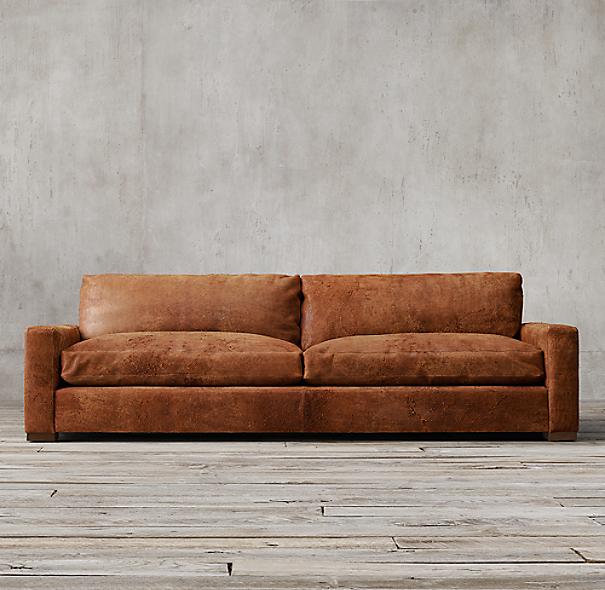 maxwell leather sofa