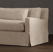 7' Belgian Slope Arm Slipcovered Sleeper Sofa
