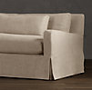 8' Belgian Slope Arm Slipcovered Sleeper Sofa