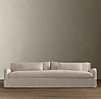 7' Belgian Slope Arm Slipcovered Sleeper Sofa