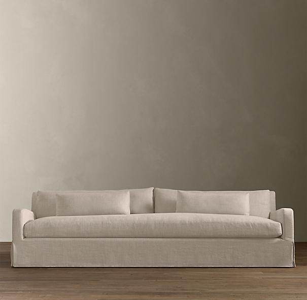 6 39 Belgian Slope Arm Slipcovered Sofa
