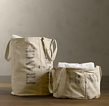 Salvaged Tarp Laundry Hamper