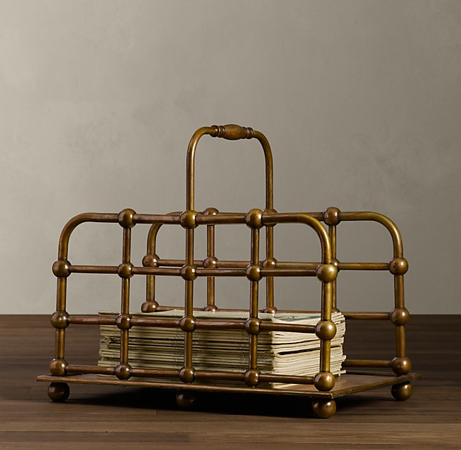1920s Astoria Hotel Magazine Rack | Storage Racks | Restoration Hardware from restorationhardware.com