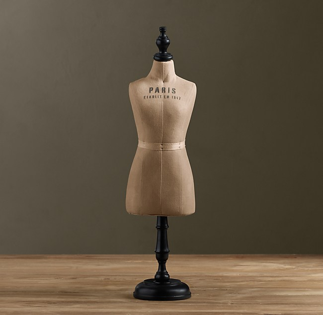 Petite Dressmaker's Form | Objets D'Art | Restoration Hardware from restorationhardware.com
