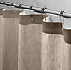 Vintage-Washed Belgian Linen Shower Curtain