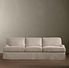 "96"" English Roll Arm Slipcovered Sleeper Sofa"