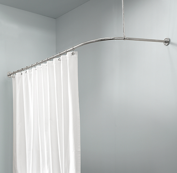 L Shower Curtain Rod