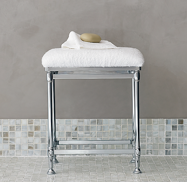 Vanity Stools For Bathroom: Newbury Bath Stool