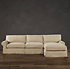 Grand-Scale Roll Arm Slipcovered Sofa Chaise Sectionals