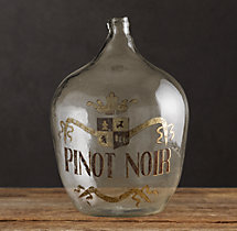 1920s Hand-Blown Wine Bottle Pinot Noir