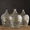 1920s Hand-Blown Wine Bottle Merlot