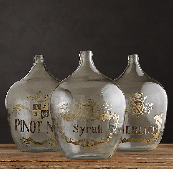 1920s Hand-Blown Wine Bottle Syrah