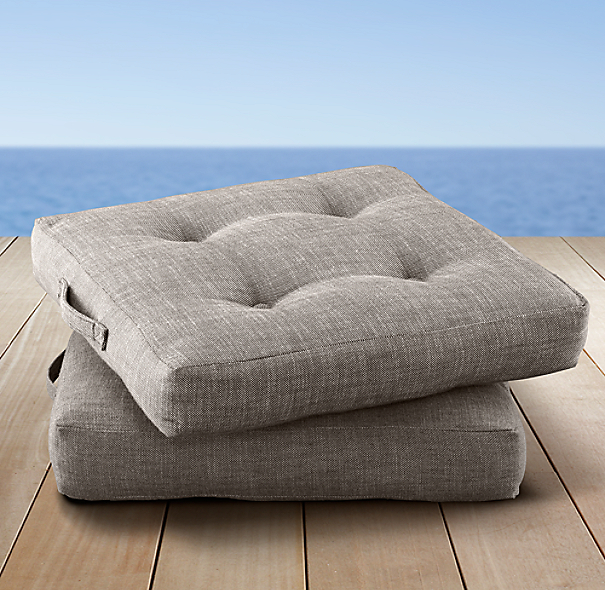Perennials®  Côte d'Azur Textured Linen Weave Outdoor Floor Cushions
